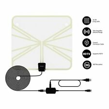 HDTV Antenna 50  Mile Range HDTV Clear View Clearview Style Digital Flat US Whit