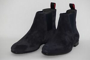 HUGO BOSS Chelsea Boots, Model Parmel, Size 43 / US 10, Made in Italy, Dark Blue