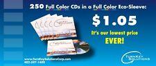 250 Custom Printed CDs in an ECO (Simple) CD Sleeves