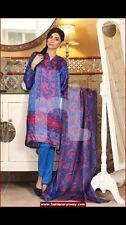 Genuine Nishat Linen Raw Silk Dress Suit 3 Piece Salwar Kameez Gem Detailing