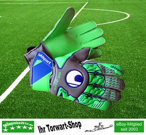 Torwarthandschuhe Uhlsport Tensiongreen Soft Advanced grün / grau / blau - Neu !