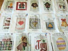 14 Ornament Cross Stitch Seasonal Kits,Christmas,Thanksgiving,Valentine,Easter,1