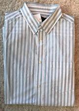 H&M   White/Light Blue Striped  Cotton Shirt Regular fit Sz Small