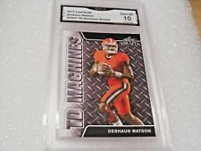 Deshaun Watson GRADED ROOKIE!! Gem Mint 10!! 2017 Leaf Draft #TD07 Texans X-1