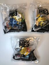 2017 MCDONALD'S DESPICABLE ME 3 TOYS MINIONS LOT OF 3 TOYS. ALL NIP!