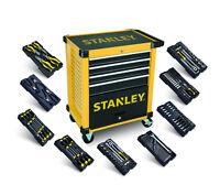 STANLEY Werkstattwagen gefüllt 169-tlg. 9 Module Werkzeugwagen STHT0-80442