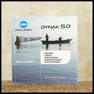 FREE UK POST Minolta Dynax 5D Digital SLR Essentials of Imaging Guide Book