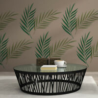Palm Leaf Wall Stencil - Large Reusable Tropical Foliage Stencil
