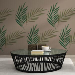 Palm Leaf Wall Stencil - Large Reusable Tropical Foliage Stencil