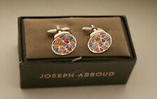 Joseph Abboud Handsome Color Burst Round Cufflinks New NOS Box $55 Val Cuff Link