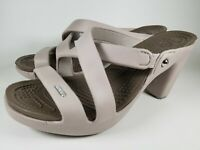 Crocs Cypress V Heel Sandals Womens Size 9 Gray