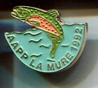 RARE PINS PIN'S .. SPORT PECHE FISHING CLUB TEAM AAPP 1992 TRUITE LA MURE 38 ~CR