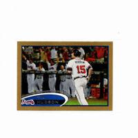 2012 Topps Mini GOLD Tim Hudson Parallel Card #58! Atlanta Braves SP #'d 10/61!!