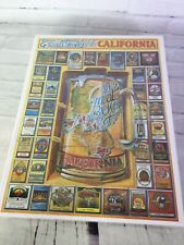 VTG White Mountain Puzzles Great Brewers of California Beer 1000 Piece Jigsaw