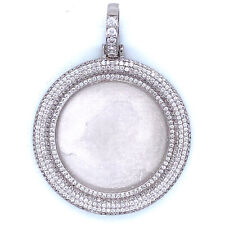 Sterling Silver 925 Picture Pendant Cubic Zirconia CZ