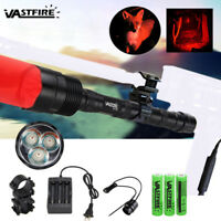 Tactical 20000LM 3x XML Green/White/Red LED Hunting Flashlight Lamp Work Torch