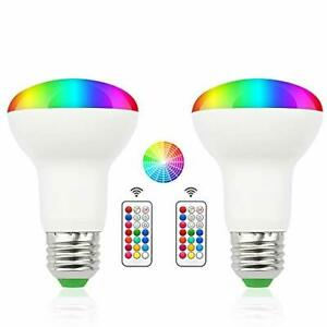 3W RGB BR20 Color Changing LED Flood Light Bulbs - E26 12 Color Choices Memory F