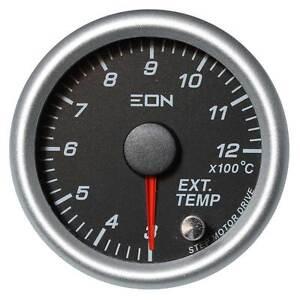 EON Exhaust Temperature Gauge Black Face