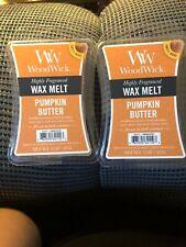 (2) Wood Wick Wax Melt 3 Oz. ~ PUMPKIN BUTTER #534110 *NIB *Free Shipping