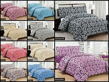 3 Piece Jacquard Quilted Bedspread Comforter Set & Eyelet Ring Top Lined Curtain