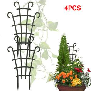 4PCS Garden Plant Vines Climbing Trellis Superimpose Plastic Potted Supports AU