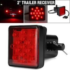 2'' Trailer Truck Hitch Towing Receiver Cover 15 LED Brake Light Cover W/ Pin