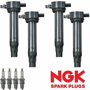 Ignition Coil & NGK V-Power Spark Plug For 2007-2017 Chrysler Dodge Jeep UF557