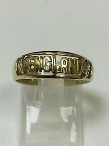 9 Carat Yellow Gold GENTS ENGLAND Ring