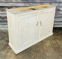 LOVELY ANTIQUE 19th CENTURY FRENCH  FORMICA TOPPED SIDEBOARD CUPBOARD, C1900