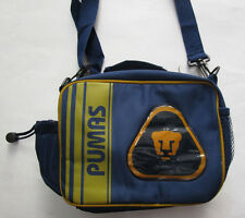 Kid's Pumas UNAM Lunch Shoulder Bag, New Navy Blue Gold FMF Lonchera Termica FMF