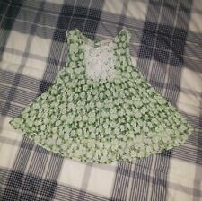 Kandy Kiss Girls Tank Top Shirts Green Floral Swing Size Small