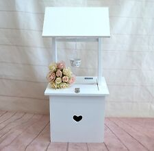 Wedding Wishing Well - square well small heart Timber engagement, card keeper