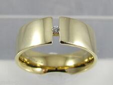 Diamant Spannring Quinn 14K 585 Gold Brillant 0,03 ct. VS / Wesselton Gr. 56