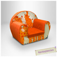 Giraffe Animal Childrens Kids Comfy Foam Chair Toddlers Armchair Seat Chair