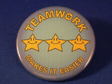 TEAMWORK... LOT of 5 BUTTONS pins School team job BADGE