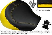 YELLOW & BLACK CUSTOM FITS SUZUKI INTRUDER VL 1500 98-04 FRONT SEAT COVER