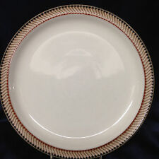 """DENBY LANGLEY LUXOR DINNER PLATER 10 1/4"""" TAN GREEN & BLUE GOEMETRIC EDGE"""