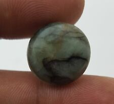 NATURAL EMERALD UNHEATED/UNTREATED ROUND LOOSE CABOCHON 17.50 MM 13.50 CT