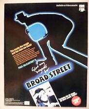 "Paul McCartney PRINT AD - 1985 ~ ""Give My Regards to Broad Street"""