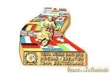 """Metall-Plakette """"Vespa World Days 2015"""" Biograd - Gold - 75 Stück weltweit! VCD"""