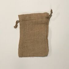 """Burlap Bags with Natural Jute Drawstring Pouch Sack (20 Pack) - 5"""" x 8"""""""