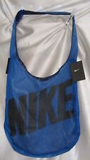 BOY`S NIKE GYM SHOULDER BAG NEW WATERPROOF LINING MESH NETTING OUTER BLUE