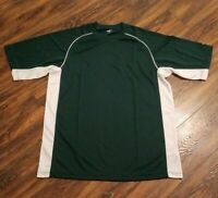 RAWLINGS Baseball Polyester Loose Fit Practice Shirt Green White Mens Size L EUC