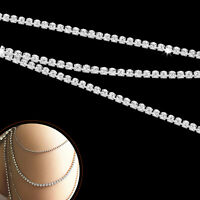 10 Metres Diamante Chain Trim Rhinestones Crystal for Cake Toppers Decorations