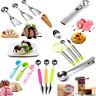 Stainless Steel Kitchen Tool Ice Cream Spoon Fruit Spoon Melon Baller Scoop