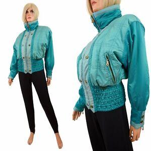 Vtg Kaelin SKI SUIT 2-Pc Coat Jacket Stirrup Stretch Pants Bunny Snowsuit S-M