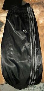 Adidas original Wet Look Shiny Nylon Satin Pants Large Popper Legs UK Post Only