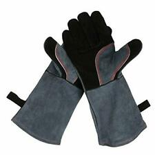 Grill Bbq Gloves Welding Fire Resistant Upgraded Leather Forge Heat long sleeve