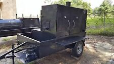 Mega Smoke House BBQ Smoker w side Grill Trailer Food Truck Catering Concession