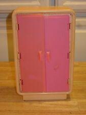 Vintage 1970's Barbie Dream Pink Furniture Armoire Closet Wardrobe neat